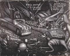 Wally Pastali, drawing by Tom McKee (Tom McKee / Art Guy) Tags: ink outsiderart drawing surrealism surreal surrealist narrative prisma visionaryart tommckee wallypastali