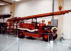 Vintage vehicle Fire Engine Southwards motor museum Wellington New Zealand 1991