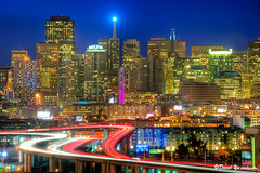 Downtown Cityscape San Francisco (davidyuweb) Tags: landscape twilight san francisco downtown cityscape