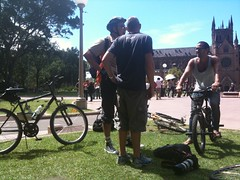 Bike riders (yewenyi) Tags: world cyclists ride protest sydney australia nsw newsouthwales aus syd archibaldfountain 2010 worldnakedbikeride wnbr