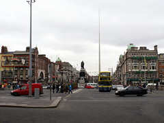Sackville Street and O'Connell Bridge, Dublin. County Dublin, Ireland