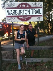 Warburton trail 6:28pm, 2km to CP5