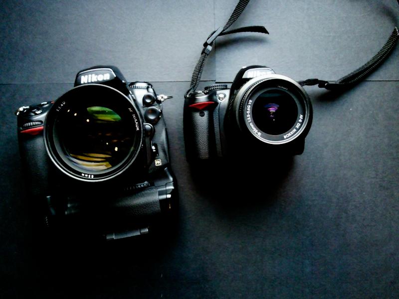 Nikon D700 and D3000