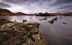 Barren. (stonefaction) Tags: winter ice landscape scotland frozen highlands scenery rocks rannochmoor lochan faved lochannahachlaise