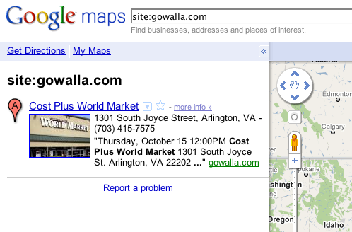 Gowalla - Google Maps citation