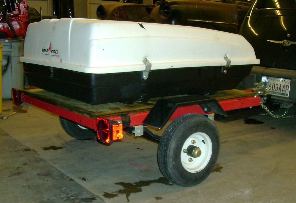 Mounted CarTop Carrier on Trailer