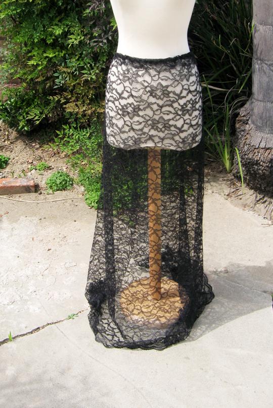 long sheer lace skirt -diy-6