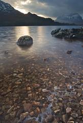 Foam (Leathanach) Tags: sunlight mountains water scotland highlands nikon rocks stones foam torridon 1835 polariser liathach lochclair d700 landscapesshotinportraitformat clanflickr rural2010