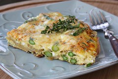 Asparagus Frittata Recipe with Smoke Paprika, Thyme & Feta Cheese (CookinCanuck) Tags: cheese breakfast egg asparagus brunch onion paprika feta frittata