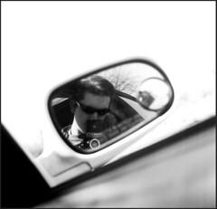 Objects in Mirror (Supernothing!) Tags: arizona mirror tucson ryan tmax 400 124g medium format yashica curtis