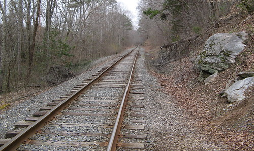Railroad tracks at northern River Section