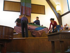 Palm Passion Sunday 2010 during service 1 (Michael S in Seattle) Tags: lent sacredspace palmsunday passionsunday textilearts worshiparts wallingfordumc reconcilingcongregation palmpassionsunday sanctuarydecoration