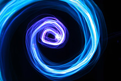 LED Star (Audiotribe) Tags: christmas pink blue light lightpainting abstract motion color colour art canon denmark eos star exposure glow purple trails tunnel ring led flare leds swirl lys spark danmark shutterspeed diode lightpaint christmasstar sooc 400d ledgraffiti ledstar