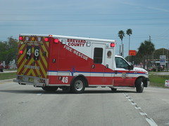 Brevard County Fire Rescue - FireMedic 46 (FormerWMDriver) Tags: county rescue 3 ford fire lights code call florida ambulance medical vehicle fl emergency medic paramedic ems emt services 46 brevard f350 sirens superduty fseries firemedic