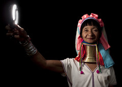 Long Neck woman and ringflash, Thailand (Eric Lafforgue) Tags: travel ladies portrait woman thailand necklace long village burma refugee traditional flash tailandia tribal thalande ring explore longneck tribes myanmar tribe coil ethnic siam burmese thailandia birma ringflash villagers hilltribes tribu  padaung birmanie  thailnd kayan mynamar tayland   muangthai tajlandia triabl thaifld      thai3937