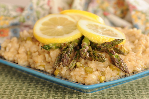 Low-Maintenance Lemon Asparagus Risotto
