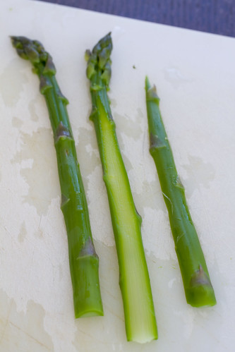 1/4 inch slices of asparagus