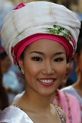 Tribal beauty. (Bertrand Linet) Tags: portrait girl smile thailand tribal chiangmai tribe beautifulgirl thaigirl bertrandlinet