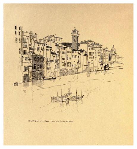 010- Orilla izquierda del Arno desde el puente Vecchio-Florence  a sketch book (1914)- Richards Fred