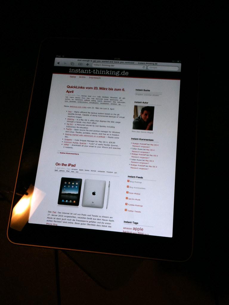 instant-thinking.de on iPad