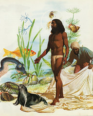 prophet (bezembinder) Tags: sf monster collage dragon goldfish snail prophet servant goudvis onderwater profeta bezembinder profeet serviel