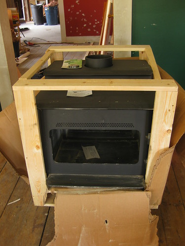 the new wood stove!!!!!!