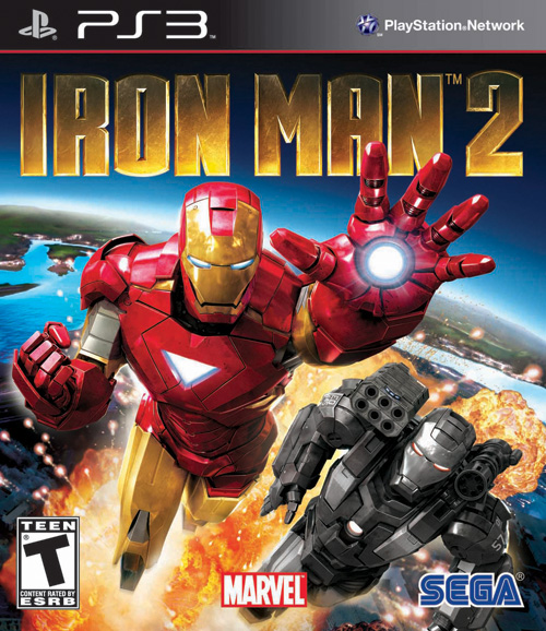Iron Man 2 Game Sega box