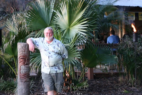 Dad at the Tiki Hut