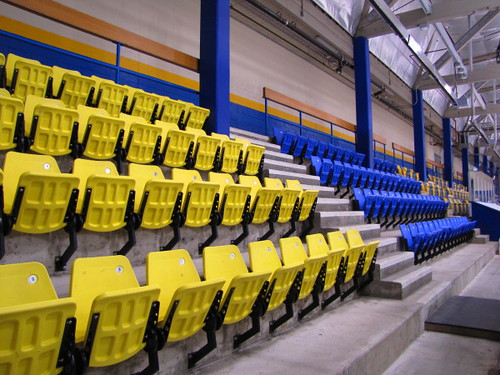 Seating at the Father Bauer Arena in the UBC Thunderbird Sports Centre