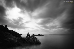 Silence... (djniks) Tags: seattle park bw beach water island washington rocks long exposure state 10 deception pass stop rosario whidbey sigma1020 canon40d bw110ndfilter
