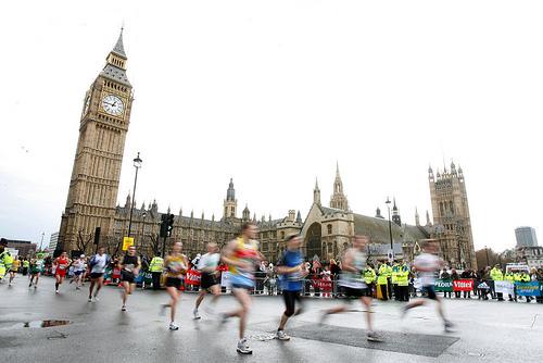 Maratón de Londres: paso por el Big Ben