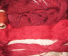 silk warp yarns