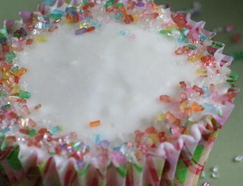 margarita cupcake closeup
