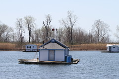 188/365 Floating houses at Presque Isle Park (waitscm) Tags: house lake pennsylvania houseboat 365 erie floatinghome presqueisle floatinghouse eriepa jolinko april10th2010