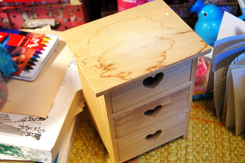 Tiny chest of drawers