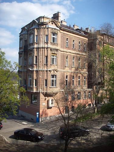 Broken house in Budapest