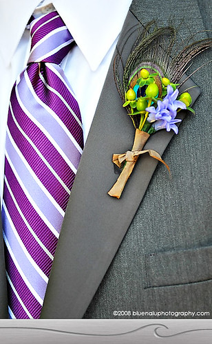 purple striped tie