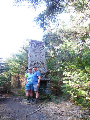 Chris & Misti @ old chimney on Mt. Roan