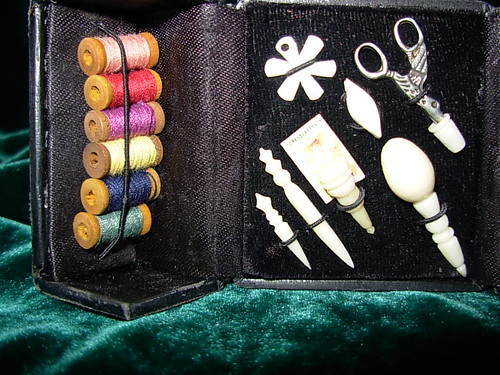 Handmade French Fashion Doll Sewing Case