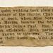 Frederick Dennis Paul-Nora Victoria Morton Marriage Notice