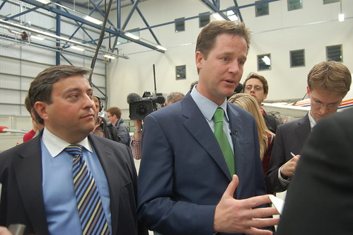 Nick Clegg visit Newcastle Apr 10 15