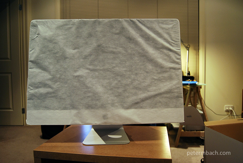 My new iMac (cloth cover)