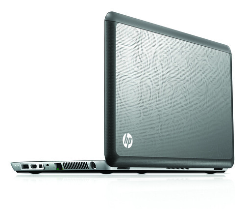 HP Envy 14, rear right back on white