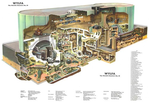 The World's Reactors, No. 39, Wylfa Magnox, Wylfa, Anglesey, UK. Wall chart insert, Nuclear Engineering, 1965 by peacay