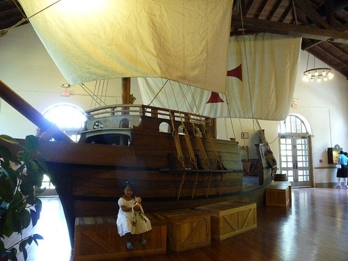 sailboat in visitors center.