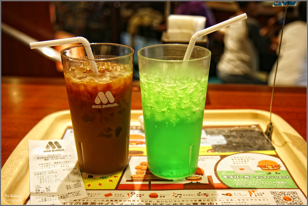 Refreshments at Mos Burger