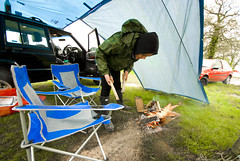 Camping_St Ives Farm_51 (jjay69) Tags: camping camp campsite tent holiday weekend break outdoor stivesfarm east sussex hartfield fire campfire burn flames burningwood jeep orvis 25td diesel 4x4 car offroad generalgrabber 25516 allterrain basha junglebasha canopy protection tight taught stretched cover roof uk eastsussex england rural countryside