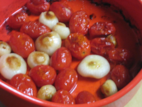 Roasted Tomatoes and Cipollini