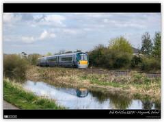Irish Rail InterCity (bbusschots) Tags: ireland panorama reflection clouds train canal diesel pano rail railway railcar maynooth hdr ir