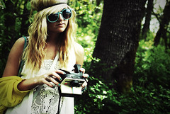 Chandler (wakeupbaylee) Tags: portrait sunglasses forest nikon blonde indie hippie d200 chandler dreamcatcher crimped wakeupbaylee